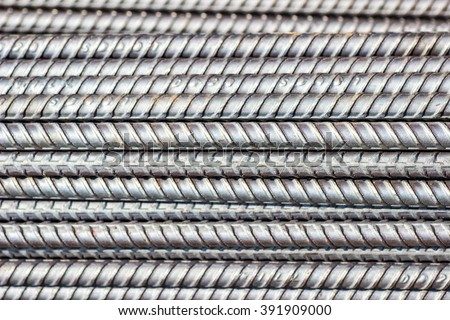 Steel in construction texture background. - stock photo