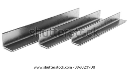 Steel L-Profile. Illustration on white background. - stock photo