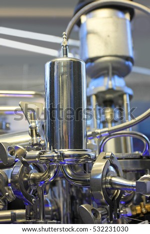 Steel laboratory instrument