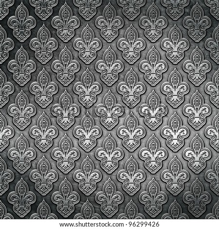 steel metal background - stock photo