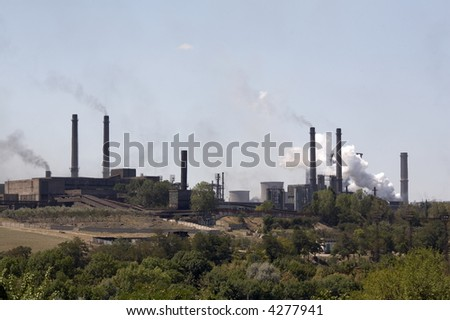 Steel mill blasting furnaces