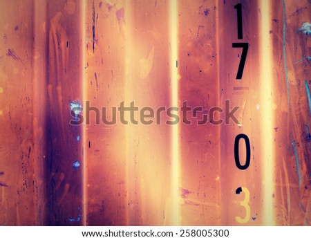 Steel panels wall texture background in fire style - classic - stock photo