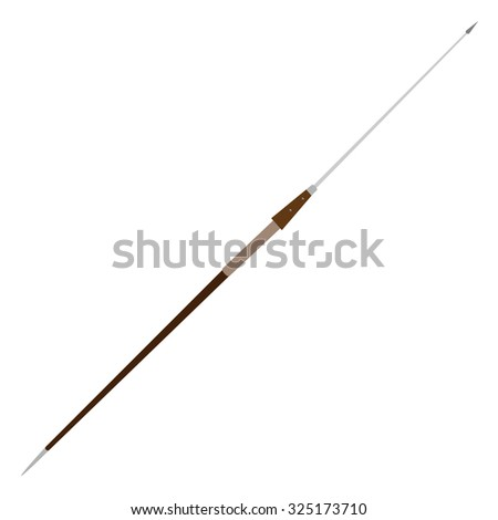 Steel pilum, spear antique weapon raster isolated  - stock photo