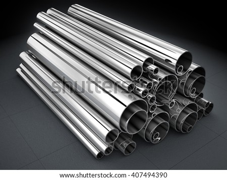 Steel Pipe, metal-roll (done in 3d)