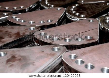 Steel plate after drilling, Steel Hardware