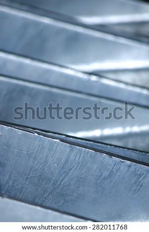 Steel plates texture - stock photo