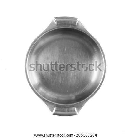 steel pot - stock photo