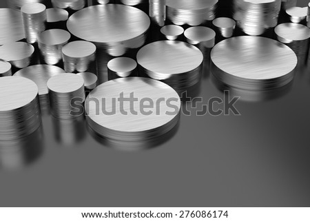 Steel Products - stock photo