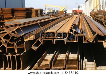 steel Profiles - stock photo