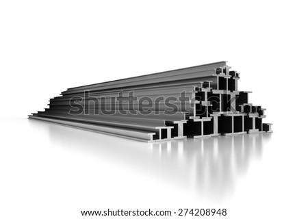 Steel Profiles - stock photo
