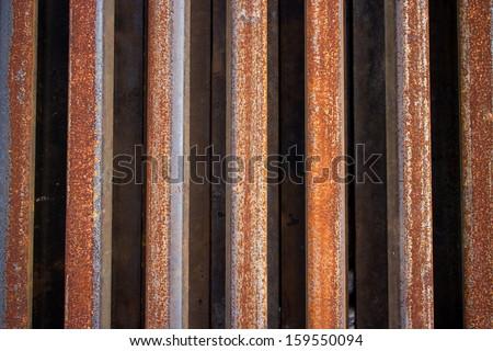 Steel rails. - stock photo
