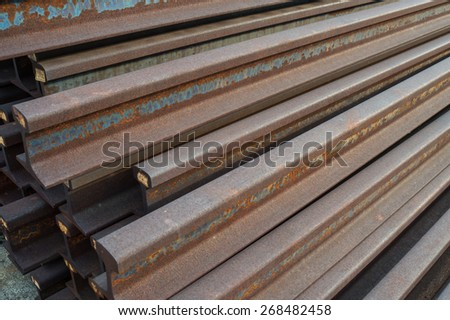 Steel rails - stock photo