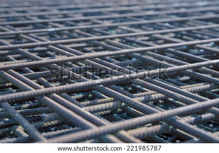 steel rebar in a construction site
