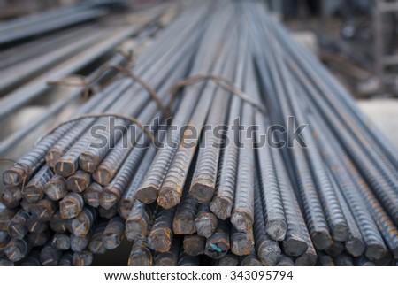 Steel Reinforcing Bars - stock photo