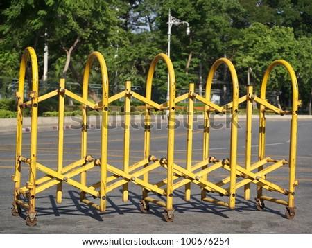 steel road barrier - stock photo