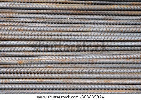 Steel Rods Background - stock photo