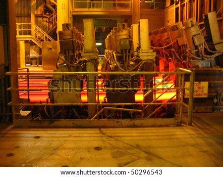 Steel-rolling section - stock photo