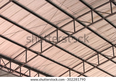 Steel roof structures , Roof structures. - stock photo
