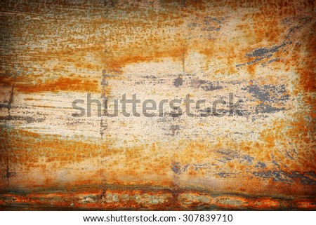 steel rust for background and color damaged