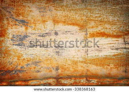 steel rust for grungy background and color damaged