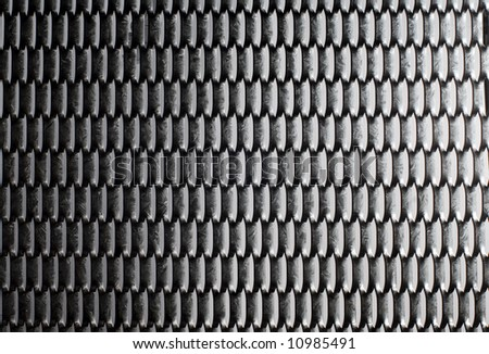 Steel security mesh - stock photo