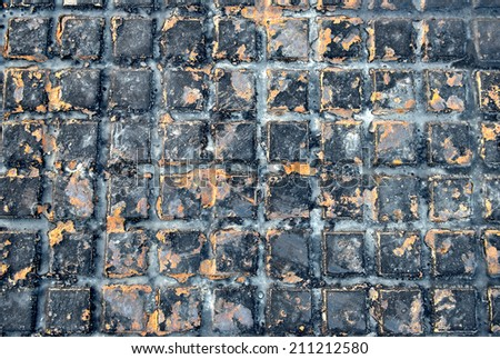 Steel sewer. Old rusty iron drain grid. Closeup for Background  - stock photo