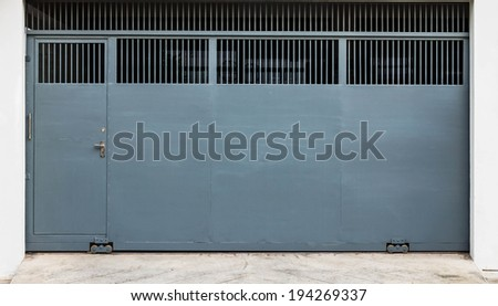 steel sliding gate and door
