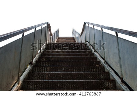 steel stair city overpass front views business success abstract isolated background