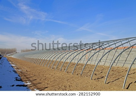 Steel structure construction of the greenhouse