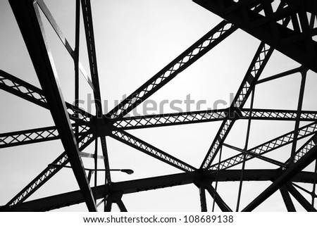 Steel structure found in Canada - stock photo