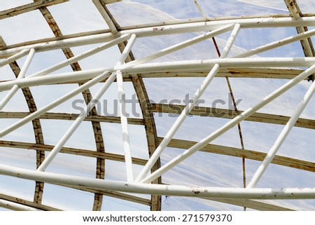 Steel structure of garden dome