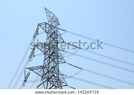 Steel tower of High Voltage Transmission line