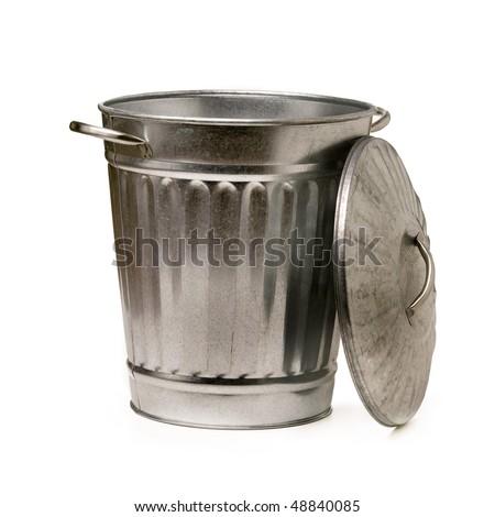 steel trash garbage can