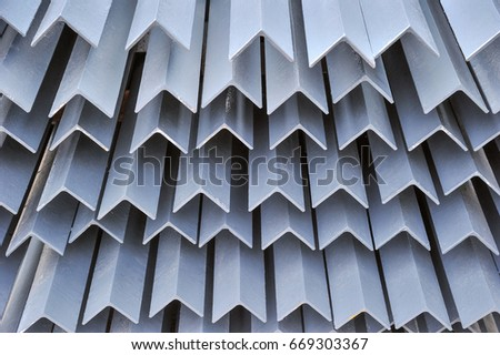 Steel used in construction industry.