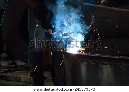 Steel Welding  - stock photo
