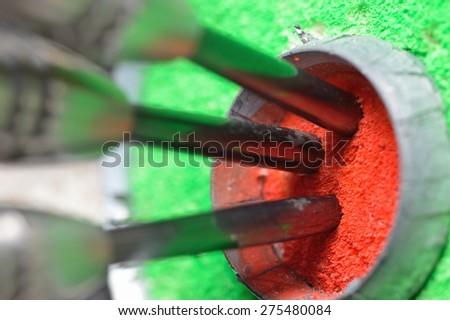 Steeldarts triple bullseye - stock photo