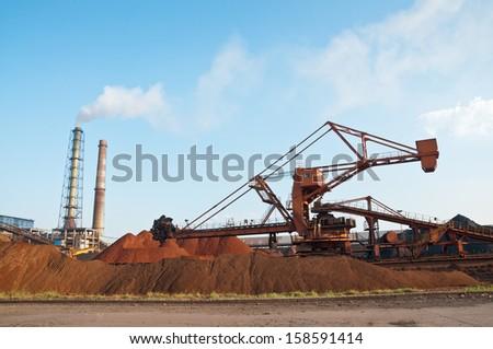 steelworks  - stock photo