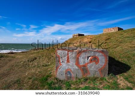 Steep coast nearby Ahrenshoop/Germany - stock photo