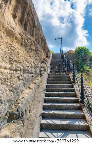 Steep Stairs To The Hill