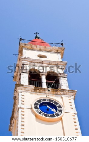 Steeple of Saint Spiridon at Corfu in Greece