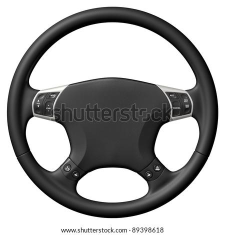 Steering wheel - stock photo