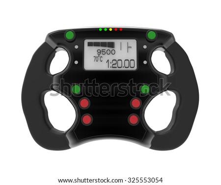 steering wheel F1 - stock photo