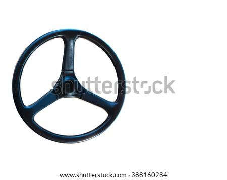 Steering wheel isolated on a white background for design.