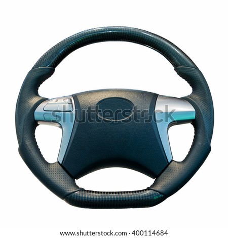 Steering wheel isolated on the white background. This has the clipping path.