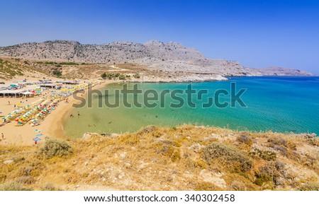 Stegna beach on Rhodes - stock photo