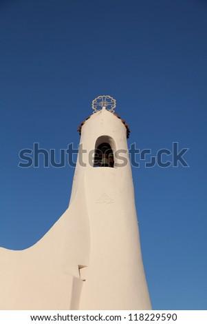 Stella Maris Church in Porto Cervo - stock photo