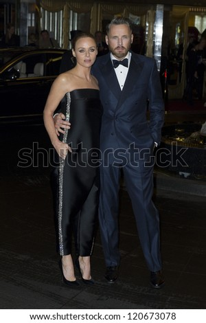 Stella McCartney and husband arriving for the British Fashion Awards 2012 at the Savoy Hotel, London. 27/11/2012 Picture by: Simon Burchell - stock photo