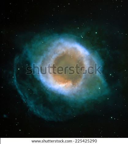 Stellar chaos in a distant galaxy. Elements of this image furnished by NASA.  - stock photo