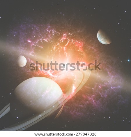 Stellar system - elements of this image furnished by NASA. - stock photo