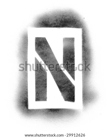 letters in spray paint stencil letters in spray paint flower vector